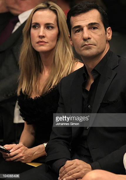 Actor Erol Sander and his wife Caroline attend the Unrath Strano trunkshow at house of Jab Anstoetz on September 13 2010 in Munich Germany