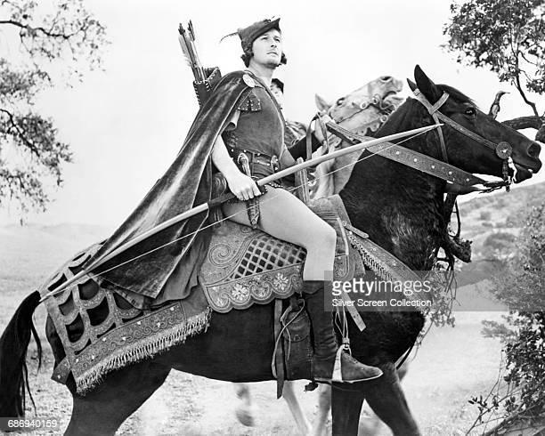 Actor Errol Flynn as Robin Hood in the film 'The Adventures of Robin Hood' 1938