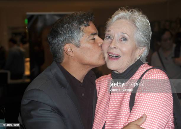 Actor Esai Morales and actress Lee Meriwether at The Hollywood Show held at Westin LAX Hotel on October 21 2017 in Los Angeles California