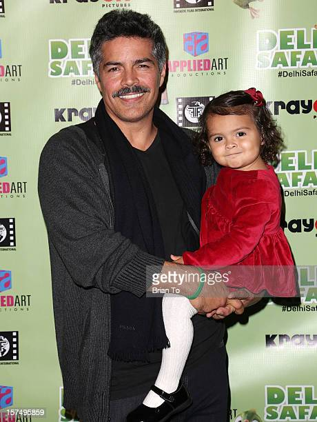 Actor Esai Morales and daughter Mariana Oliveira Morales attend the Delhi Safari Los Angeles premiere at Pacific Theatre at The Grove on December 3...
