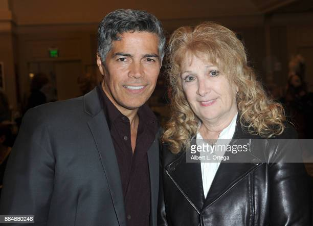 Actor Esai Morales and Eileen Mumy at The Hollywood Show held at Westin LAX Hotel on October 21 2017 in Los Angeles California