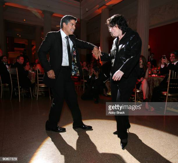 Actor Esai Morales and US Supreme Court Justice Sonia Sotomayor salsa dance at the 13th Annual National Hispanic Foundation For The Arts Noche...