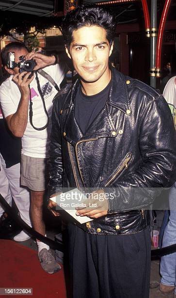 Actor Esai Morales attending the premiere of 'Bill Ted's Bogus Journey' on July 11 1991 at Mann Village Theater in Hollywood California