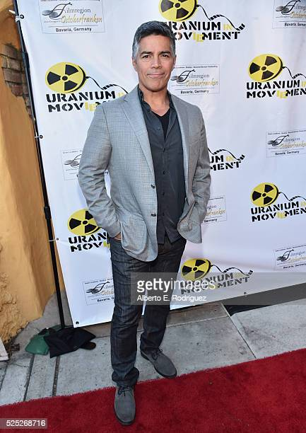 Actor Esai Morales attends the Atomic Age Cinema Fest Premiere of 'The Man Who Saved The World' at Raleigh Studios on April 27 2016 in Los Angeles...