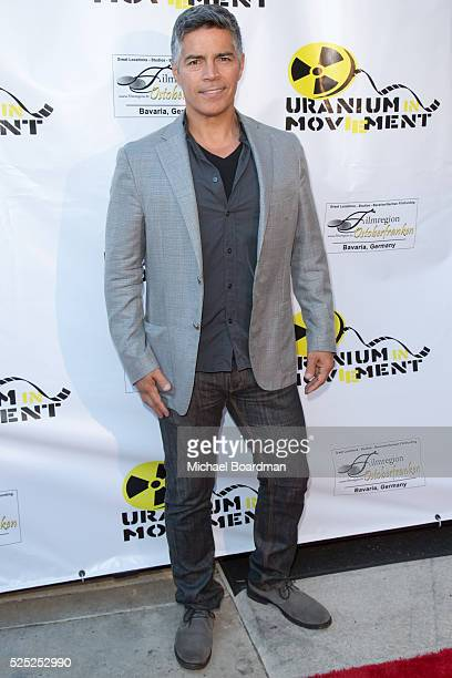 """Actor Esai Morales attends the Atomic Age Cinema Film Festival premiere of """"The Man Who Saved The World"""" at Raleigh Studios on April 27, 2016 in Los..."""