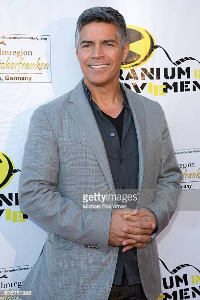 """Actor Esai Morales attends the attends """"The Man Who Saved The World"""" premiere during the Atomic Age Cinema Fest at Raleigh Studios on April 27, 2016..."""