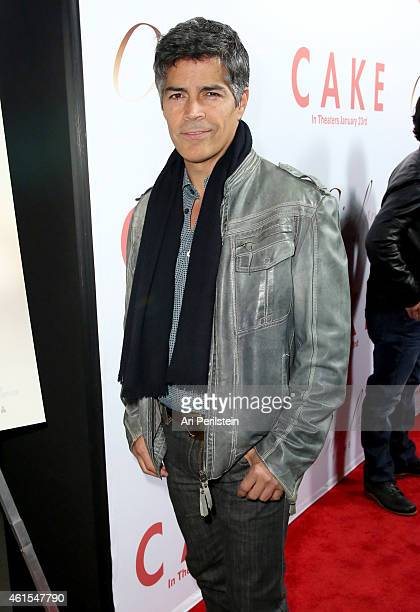 Actor Esai Morales attends the Los Angeles Premiere Of 'CAKE' at ArcLight Hollywood on January 14 2015 in Hollywood California