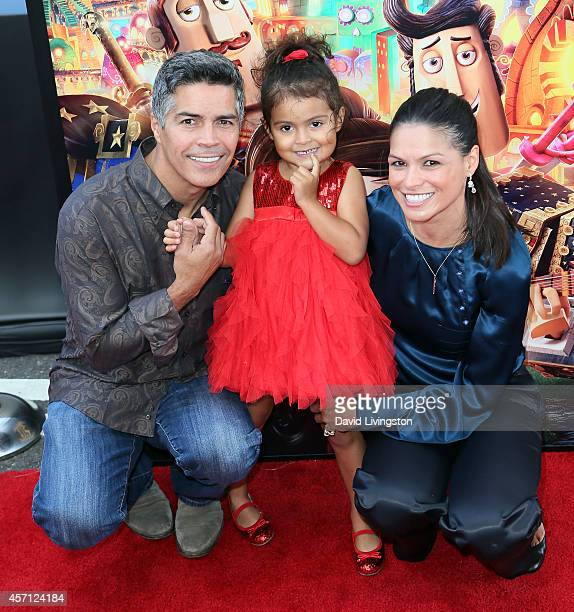 Actor Esai Morales daughter Mariana Oliveira Morales and Elvimar Silva attend the premiere of Twentieth Century Fox and Reel FX Animation Studios'...