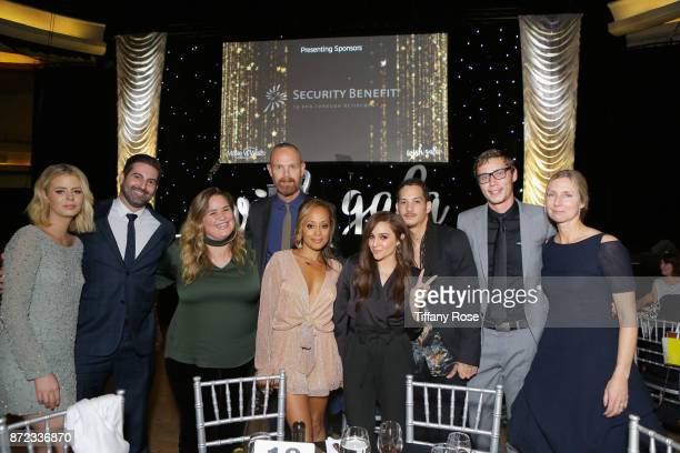 Actor Essence Atkins singer Alisan Porter and Audrey Morrissey with guests at the 2017 Make a Wish Gala on November 9 2017 in Los Angeles California