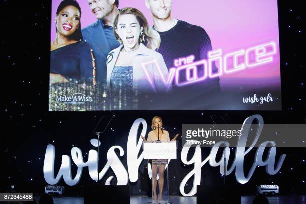 Actor Essence Atkins speaks onstage at the 2017 Make a Wish Gala on November 9 2017 in Los Angeles California