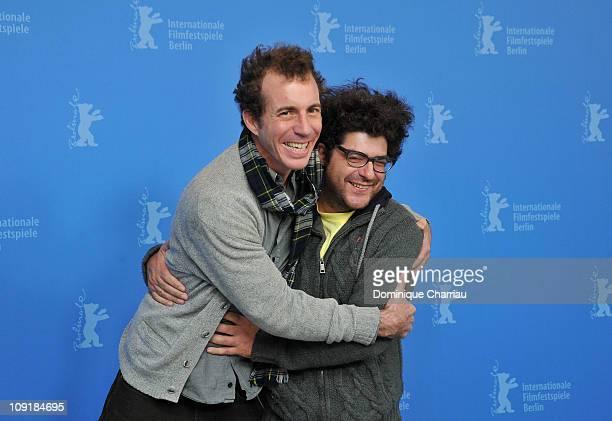 Actor Esteban Bigliardi and director Rodrigo Moreno attend the 'Un Mundo Misterioso' Photocall during day seven of the 61st Berlin International Film...