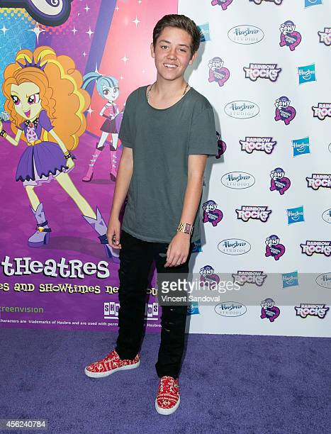 Actor Ethan Cutkosky attends the Los Angeles special screening of 'My Little Pony Equestria Girls Rainbow Rocks' at TCL Chinese 6 Theatres on...
