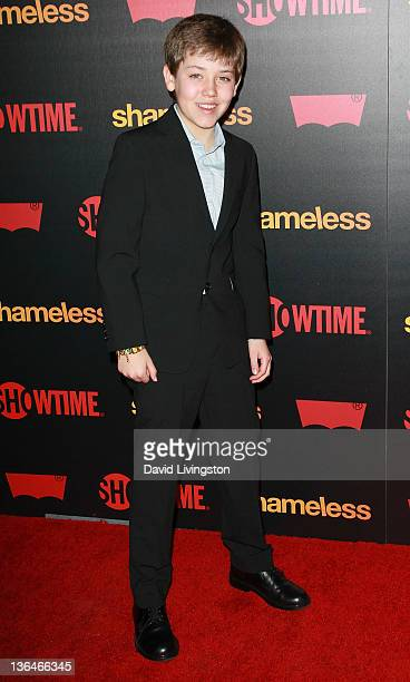 Actor Ethan Cutkosky attends the premiere reception for Showtime's 'Shameless' Season 2 at Haus Los Angeles on January 5 2012 in Los Angeles...