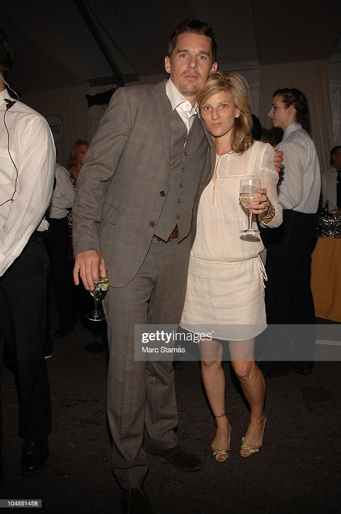 Actor Ethan Hawk and his wife Ryan Shawhughes attend the 7th Annual Fete De Swifty benefit on September 29, 2010 in New York City.
