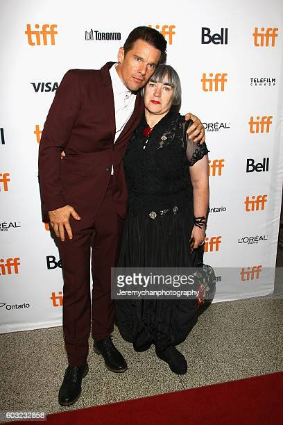 Actor Ethan Hawke and director Aisling Walsh attends the 'Maudie' premiere held at The Elgin Theatre during the Toronto International Film Festival...