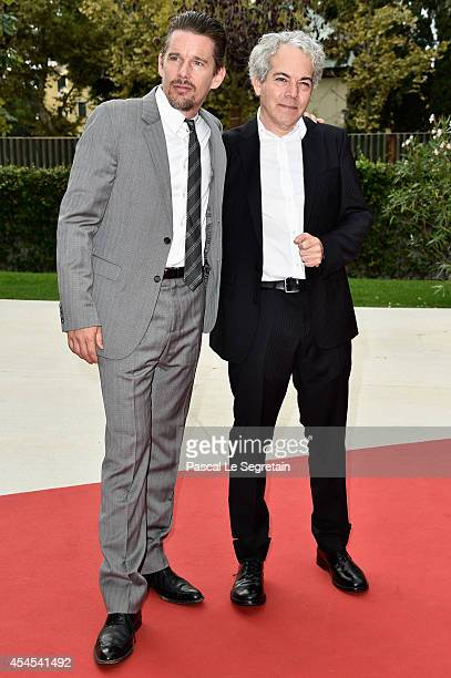 """Actor Ethan Hawke and director Michael Almereyda attends the """"Cymbeline"""" premiere during the 71st Venice Film Festival on September 3, 2014 in..."""