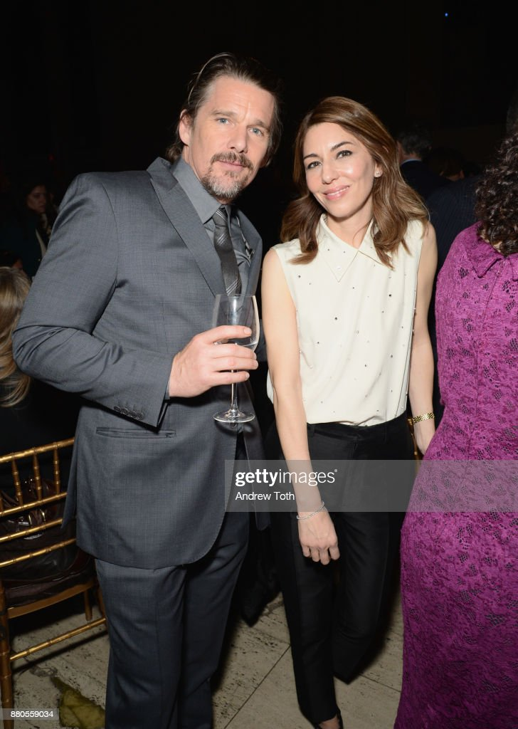 Actor Ethan Hawke and director Sofia Coppola attend The 2017 IFP Gotham Awards with Lindt Chocolate on November 27, 2017 in New York City.