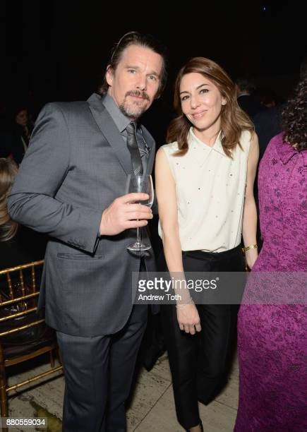 Actor Ethan Hawke and director Sofia Coppola attend The 2017 IFP Gotham Awards with Lindt Chocolate on November 27 2017 in New York City