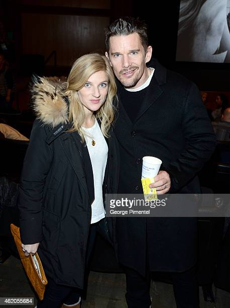 Actor Ethan Hawke and Ryan Hawke attend 'Ten Thousand Saints' Premiereduring the 2015 Sundance Film Festival on January 23 2015 in Park City Utah