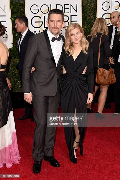 Actor Ethan Hawke and Ryan Hawke attend the 72nd Annual Golden Globe Awards at The Beverly Hilton Hotel on January 11 2015 in Beverly Hills California