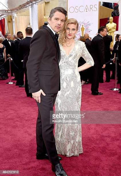Actor Ethan Hawke and Ryan Hawke attend the 87th Annual Academy Awards at Hollywood Highland Center on February 22 2015 in Hollywood California