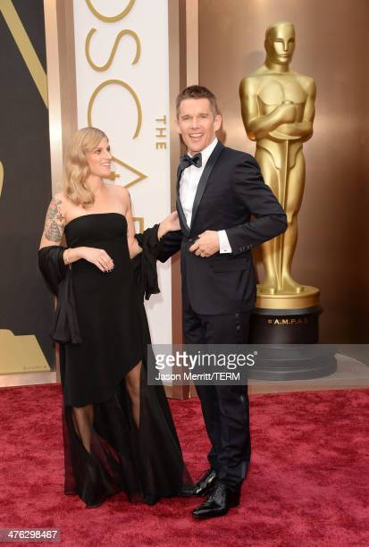 Actor Ethan Hawke and Ryan Shawhughes attends the Oscars held at Hollywood Highland Center on March 2 2014 in Hollywood California
