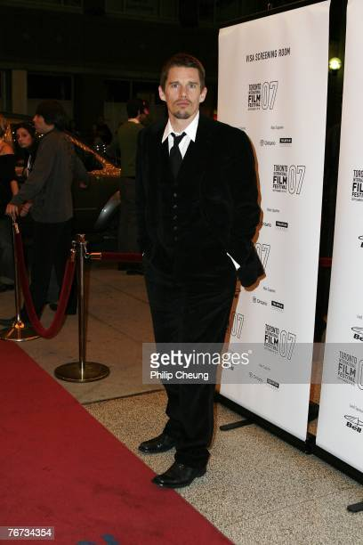 Actor Ethan Hawke arrives at the Before the Devil Knows You're Dead North American Premiere screening during the Toronto International Film Festival...