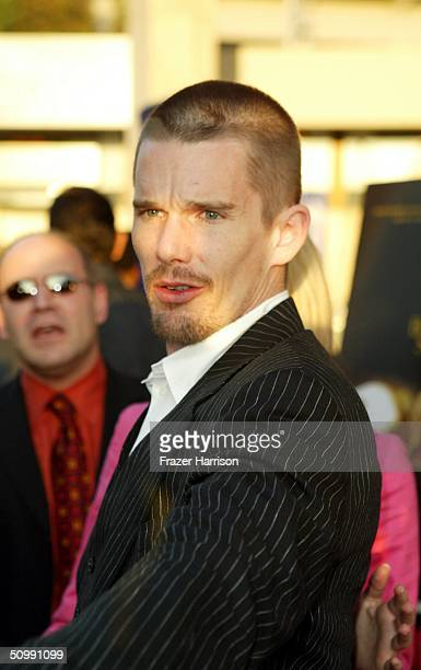 """Actor Ethan Hawke arrives at the Los Angeles Film Festival Premiere of """"Before Sunset"""" at the Archlight Cinema on June 23, 2004 in Los Angeles..."""