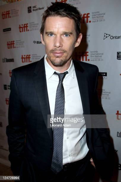 Actor Ethan Hawke arrives at the premiere of 'The Woman In The Fifth' at Winter Game Theatre during the 2011 Toronto International Film Festival on...