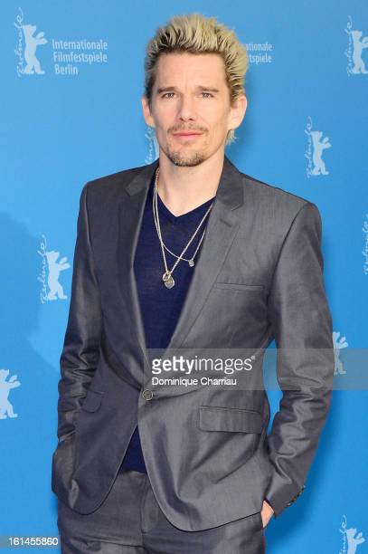 Actor Ethan Hawke attend the 'Before Midnight' Photocall during the 63rd Berlinale International Film Festival at the Grand Hyatt Hotel on February...
