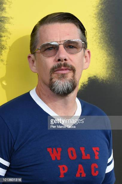 Actor Ethan Hawke attends a Conversation during the 71st Locarno Film Festival on August 9 2018 in Locarno Switzerland
