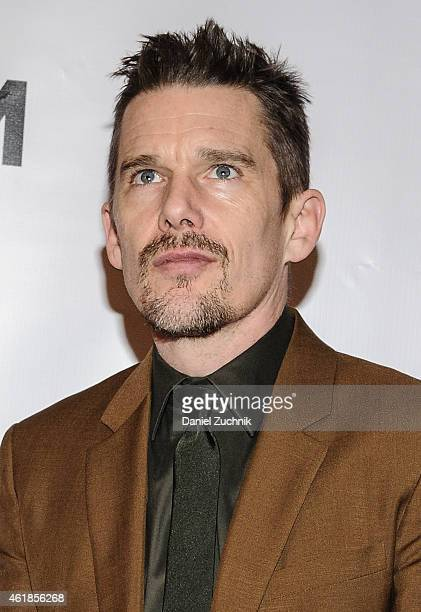 Actor Ethan Hawke attends as Museum Of The Moving Image Honors Julianne Moore at 583 Park Avenue on January 20 2015 in New York City