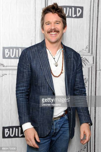 Actor Ethan Hawke attends Build to discuss 'Maudie' at Build Studio on June 7 2017 in New York City