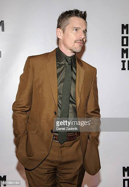 Actor Ethan Hawke attends Museum Of The Moving Image Honors Julianne Moore at 583 Park Avenue on January 20 2015 in New York City