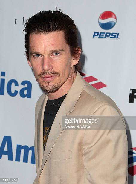 Actor Ethan Hawke attends the 2008 Public Theater Gala & the opening night of Shakespeare In The Park on June 17, 2008 at Delacorte Theater in New...