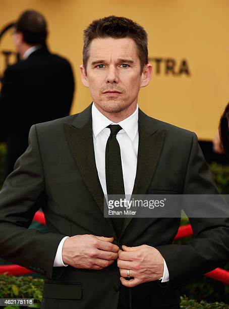 Actor Ethan Hawke attends the 21st Annual Screen Actors Guild Awards at The Shrine Auditorium on January 25 2015 in Los Angeles California