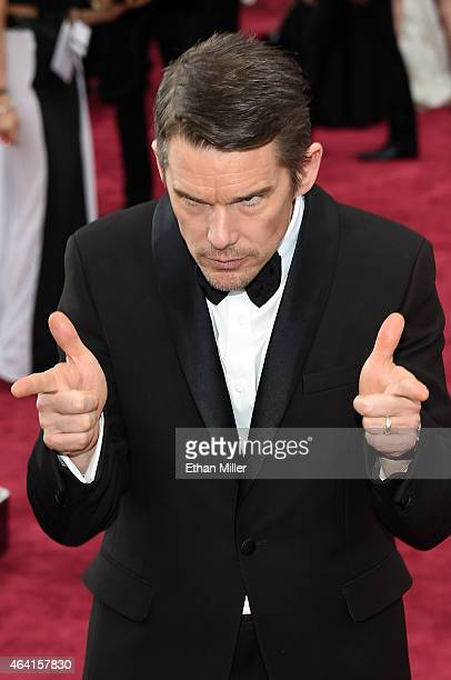 Actor Ethan Hawke attends the 87th Annual Academy Awards at Hollywood Highland Center on February 22 2015 in Hollywood California