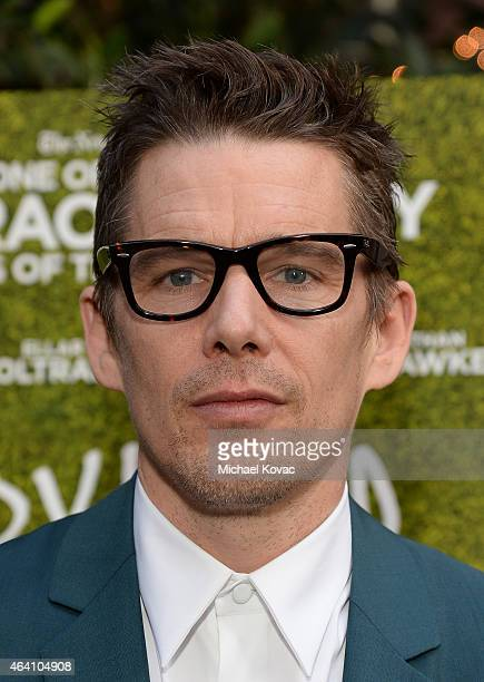 Actor Ethan Hawke attends the AMC Networks and IFC Films Spirit Awards After Party on February 21 2015 in Santa Monica California