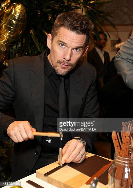 Actor Ethan Hawke attends the BAFTA Los Angeles Tea Party at The Four Seasons Hotel Los Angeles At Beverly Hills on January 10 2015 in Los Angeles...