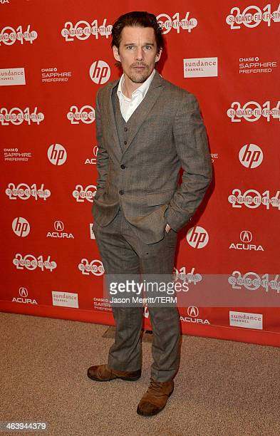 Actor Ethan Hawke attends the Boyhood premiere at Eccles Center Theatre during the 2014 Sundance Film Festival on January 19 2014 in Park City Utah