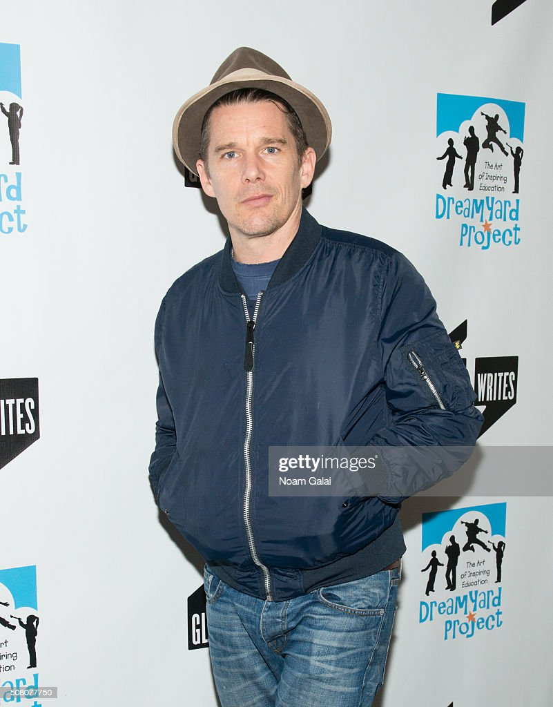 Actor Ethan Hawke attends the Bronxwrites' Poetry Slam finals at Joe's Pub on February 2, 2016 in New York City.