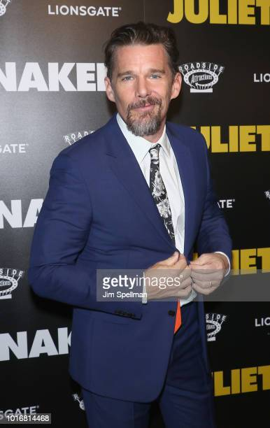 Actor Ethan Hawke attends the Juliet Naked New York premiere at Metrograph on August 14 2018 in New York City