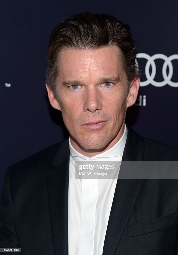 Actor Ethan Hawke attends 'The Magnificent 7' premiere screening party hosted by Bulleit at Storys Building on September 8, 2016 in Toronto, Canada.