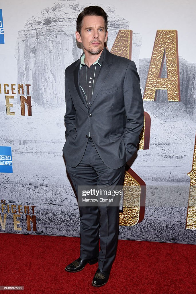 Actor Ethan Hawke attends 'The Magnificent Seven' New York Premiere at the Museum of Modern Art on September 19, 2016 in New York City.