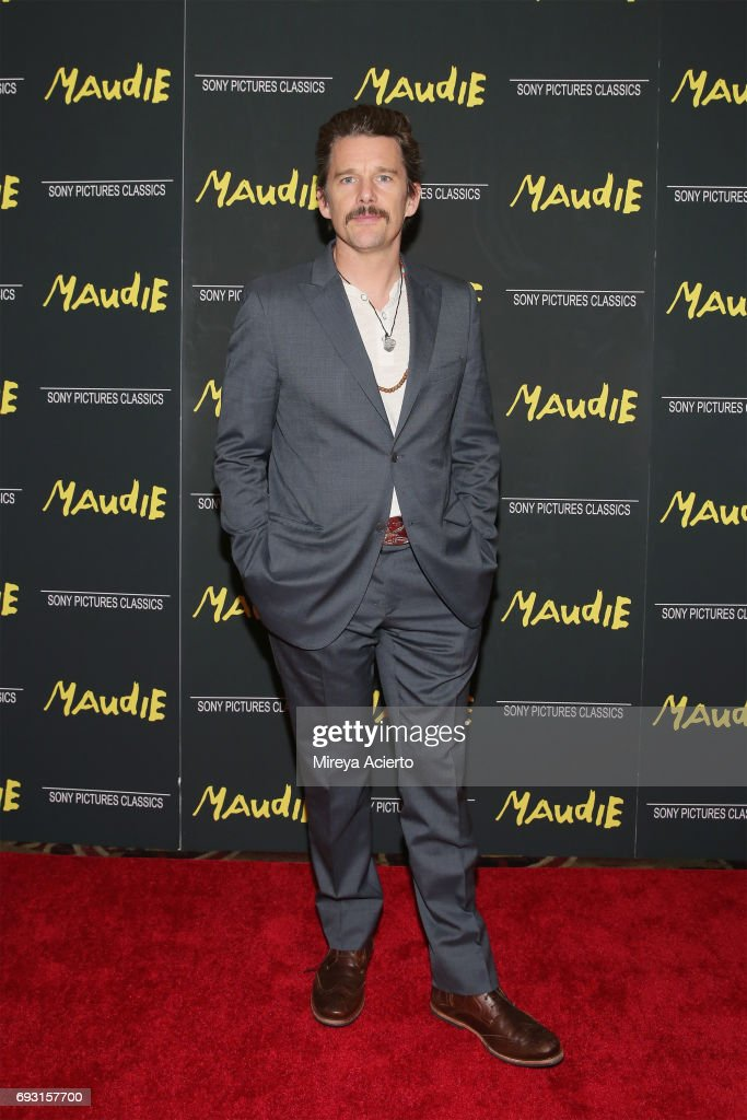 Actor Ethan Hawke attends the 'Maudie' New York screening at AMC Loews Lincoln Square on June 6, 2017 in New York City.