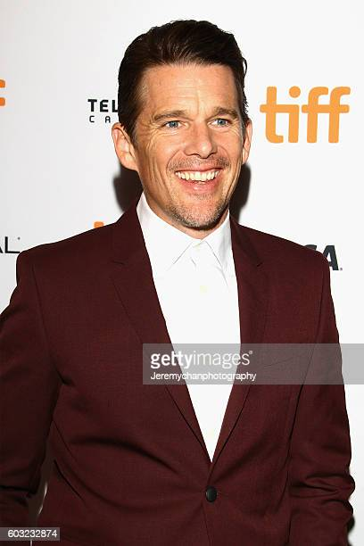 Actor Ethan Hawke attends the 'Maudie' premiere held at The Elgin Theatre during the Toronto International Film Festival on September 12 2016 in...