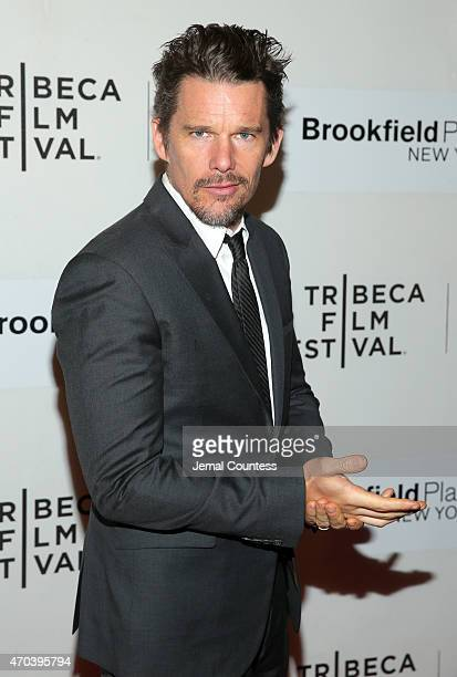 Actor Ethan Hawke attends the premiere of 'Good Kill' during the 2015 Tribeca Film Festival at BMCC Tribeca PAC on April 19 2015 in New York City