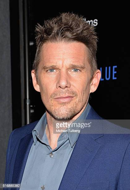 Actor Ethan Hawke attends the premiere of IFC Films' Born To Be Blue at the Regent Theater on March 21 2016 in Los Angeles California