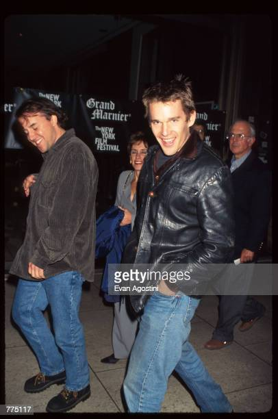 """Actor Ethan Hawke attends the premiere of """"The People Vs. Larry Flynt"""" on closing night of the 34th New York Film Festival October 13, 1996 in New..."""