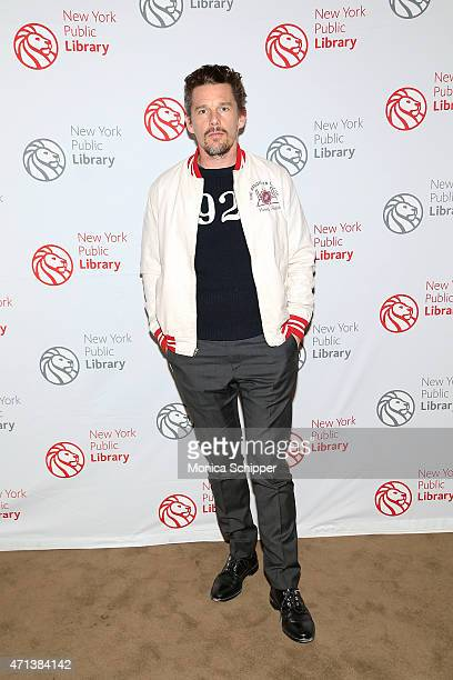 Actor Ethan Hawke attends the Young Lions Fiction Award Benefit at New York Public Library on April 27 2015 in New York City